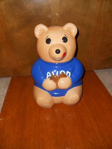 Avon District Manager Blue Cookie Jar