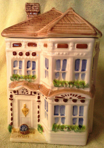 Avon Townhouse Cookie Jar