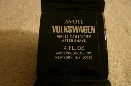 Bottom of Avon Black Volkswagen Bottle