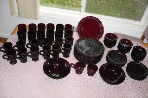 Avon Cape Cod Glass 64 Pieces