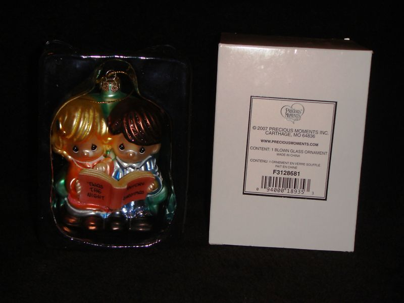 Avon Precious Moments Blown Glass Ornament - 2007