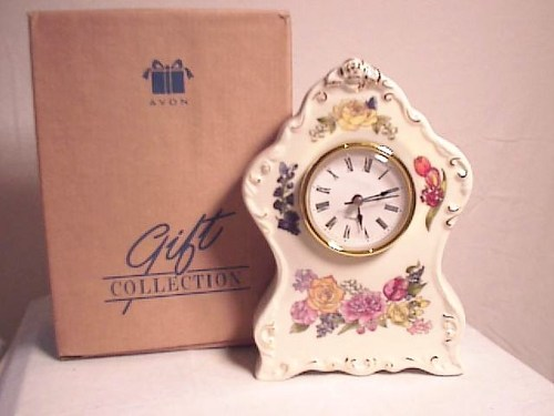 2002 Avon Flowers Clock
