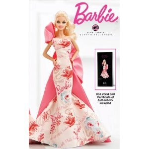 Avon Barbie 2010 Caucasian Rose Splendor