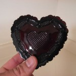 Avon Cape Cod Glass Heart Box