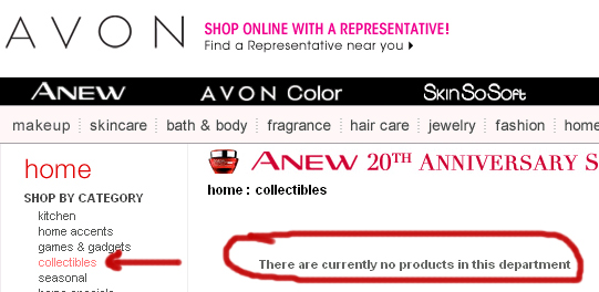 Avon Not Selling New Collectibles