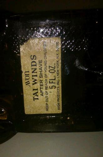 Avon gold car bottom label