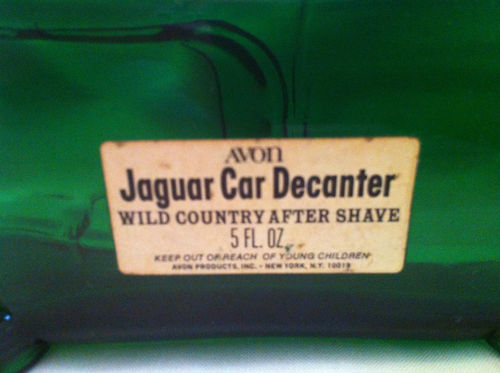 Avon Green Jaguar Bottle