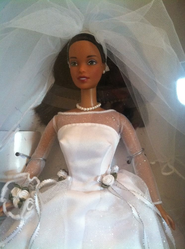 barbie blushing bride black