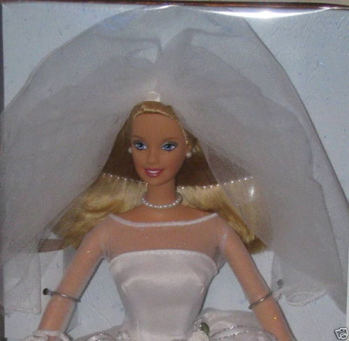 barbie blushing bride closeup