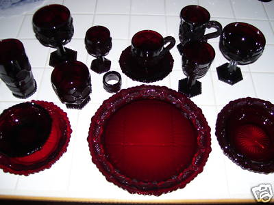 225 Avon Cape Cod Glass Setting was Offered for $1800