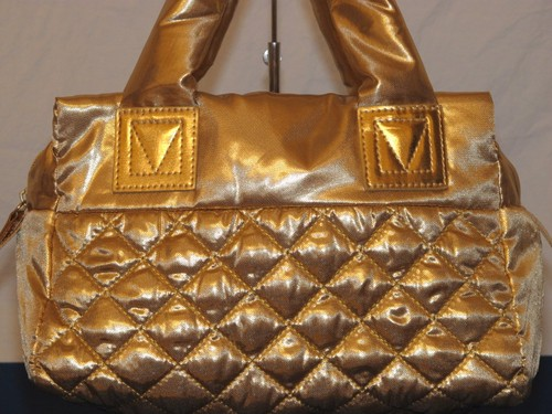Avon Gold Quilted Purse