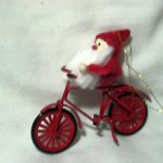 Avon Ornament Santa on Bicycle