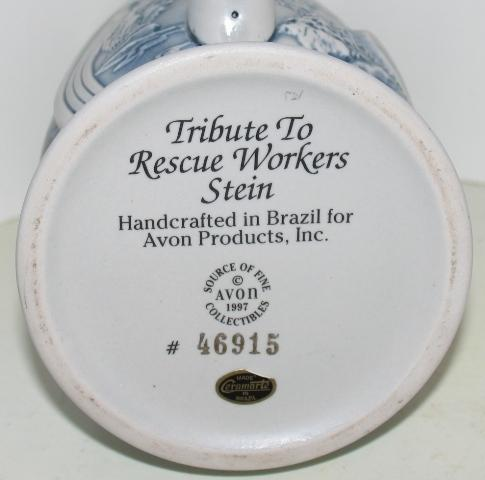 Avon 1997 Tribute to Rescue Workers Stein