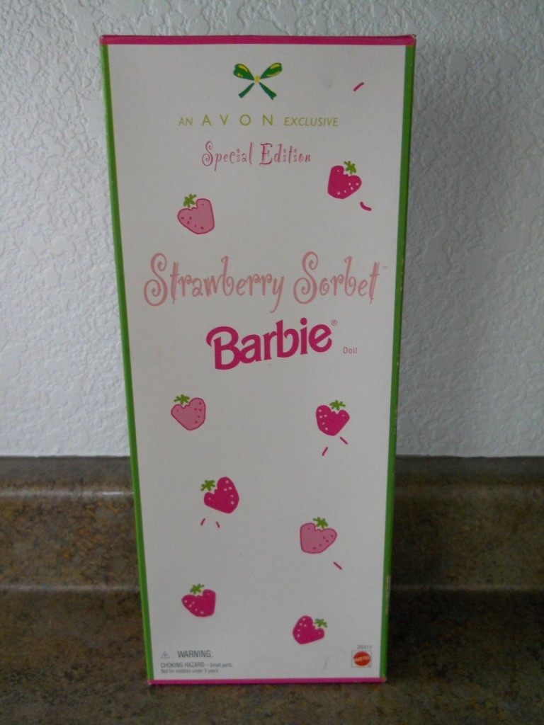 barbie strawberry sorbet box front